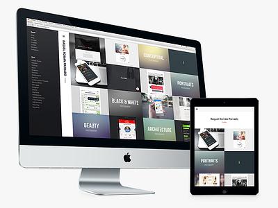 Portfolio website design ui ux work portfolio self web design web freebie