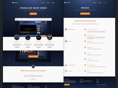 Motion Website layout website video design flat clean