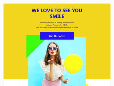 Email design yellow promo minimalistic mail funky e-mail email design clean bright colors bright