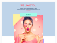 Promotional email design