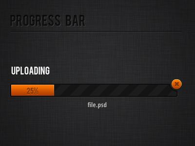 Orange progress bar progress bar uploading bar bar orange stripes texture interface upload uploading loading bar gradient ui