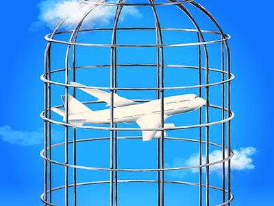 Summer Holidays 2020 procreate pandemic illustration airplane aviation holidays summer covid-19 airlines airflight