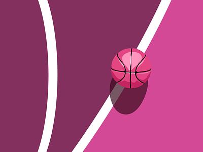 Debut vector lines ball court basketball illustration