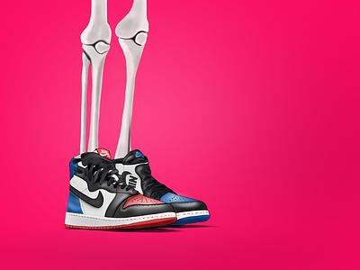The Sneakers series-Air Jordan 1 basketball jordan fashion procreate illustration airjordan1 nike sneakers