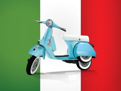 Vespa Illustration bike moto motorbike vector illustration piaggio italy vespa