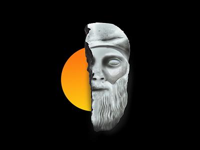 Dionysos procreate illustration ancient mask statue greece dionysos