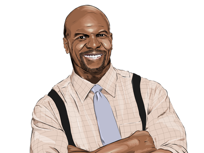 Terry vector illustration police cop tvshow tv actor brooklynninenine terrycrews