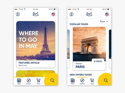 Happy Travel mobile app UI design
