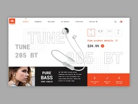 JBL TUNE 205BT Product Page UI