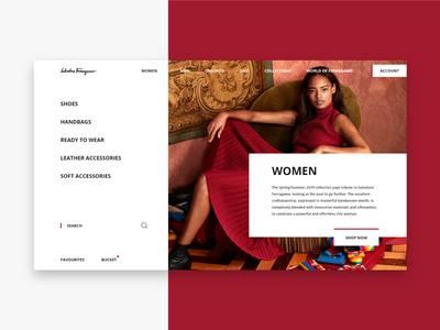 Salvatore Ferragamo Women Page UI