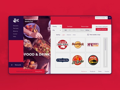 ISIC Web - Discounts Category Page (Food & Drink)