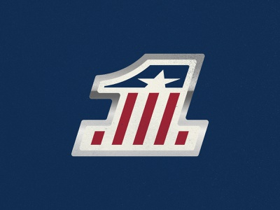 1 A usa numbers branding racing badge vintage logo