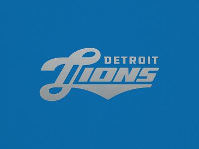 Lions Wordmark nfl racing badge type branding logo sports