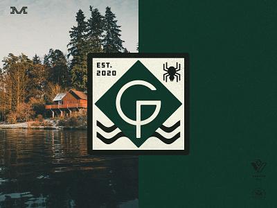 Garf Point michigan lake cottage logo design badge vintage branding logo
