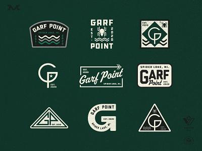 GP Options lake michigan retro brand badge type vintage branding logo