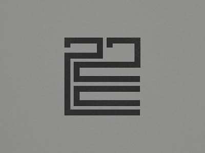 22 E brand type branding logo