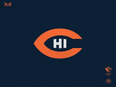Chicago Bears miami football brand type vintage sports branding logo