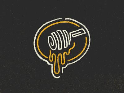 Sweet Stuff Dipper badge bee honey logo