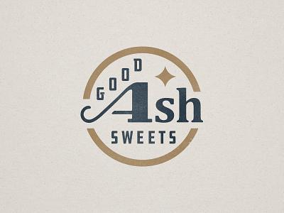 Good Ash Sweets branding baking cookies brand badge logo