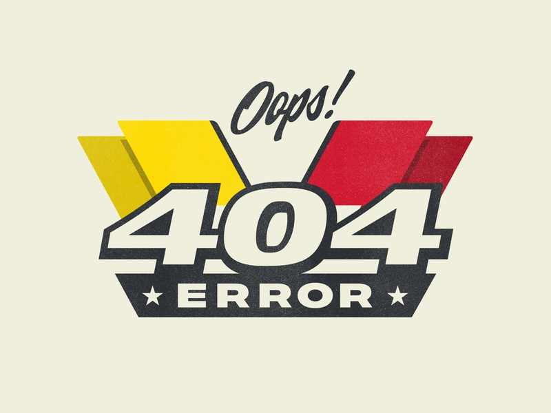 404 web vintage racing car type badge logo