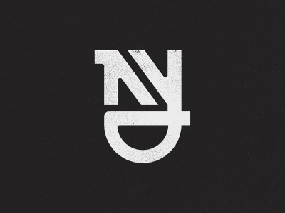 NY Monogram 01 street vintage moore golf branding logo nyc new york