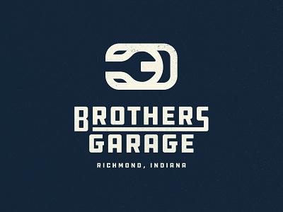 Three Brothers Garage indiana florida branding brand racing vintage logo design 3 logo