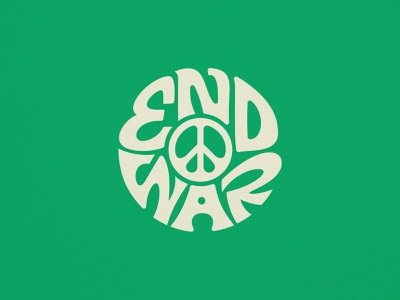 End War hippy 60s 1960s branding type vintage logo
