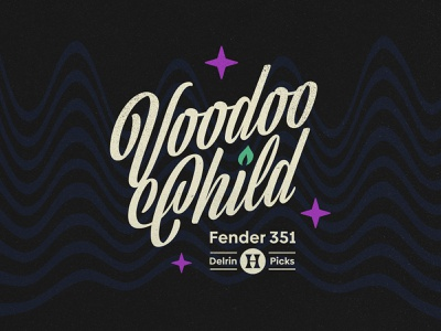 Voodoo Child script branding logotype 60s 1960s hendrix miami fort lauderdale type vintage logo
