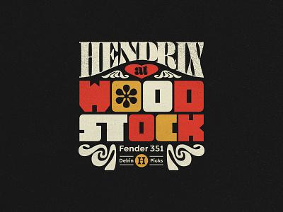 Hendrix At Woodstock miami brand fort lauderdale type branding vintage logo