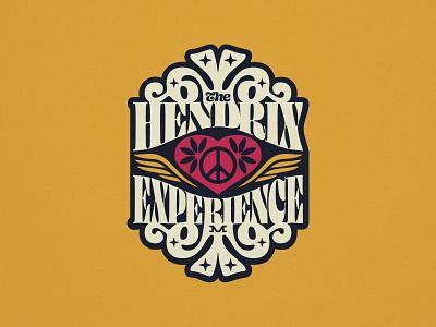 The Hendrix Experience 1960s music guitar fort lauderdale miami badge type branding brand illustration logo