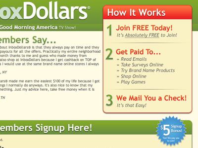 InboxDollars, Landing Page #3