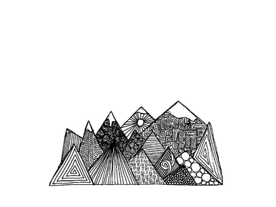 Mountain Range illustration mountains inktober