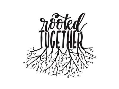 Rooted Together nonprofitwork logodesign handlettering