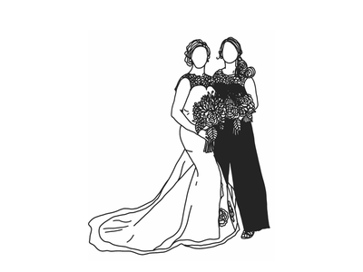 Maid of Honor adobedraw illustration weddingillustration
