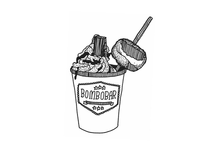 BomboBar Hotter Chocolate adobedraw illustration chicago