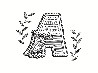 """A"" Dropcap illustration handlettering dropcap"
