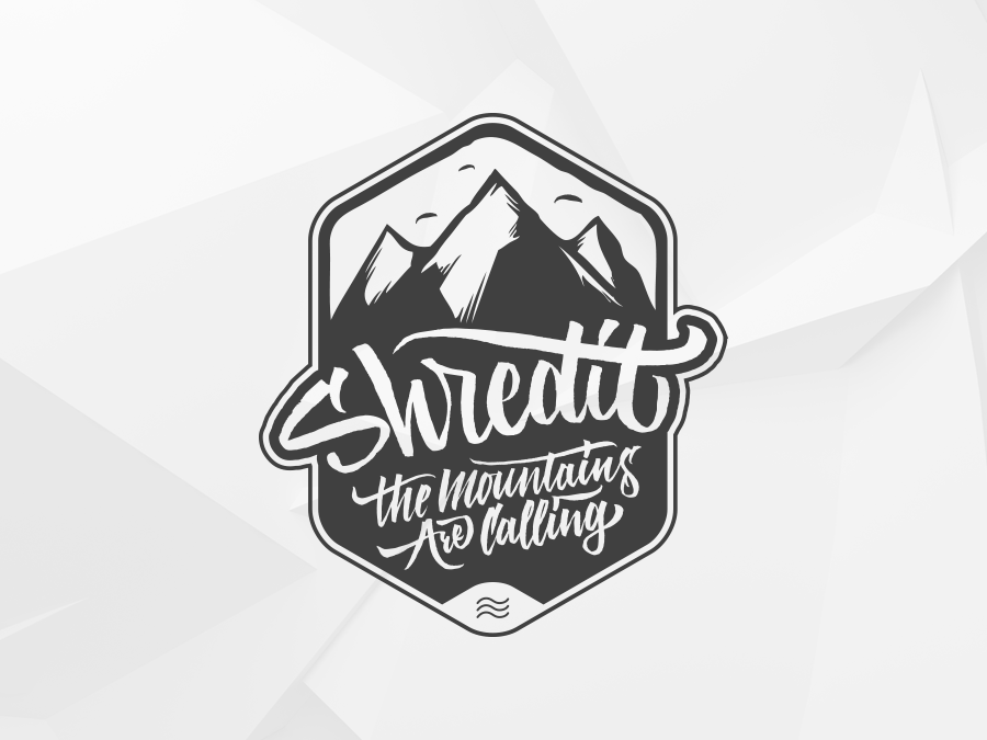 ShredIt (raw version) Mountains Are Calling snow design lettering illustration calligraffiti brush lettering brushlettering iamrushdog typo logo calligraphy logotype