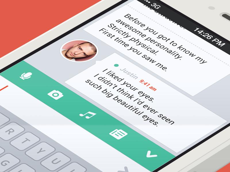 Message app ios7 message chat flat crisp clean simple ui