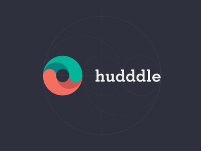 Hudddle Logo (hudddle.co.uk) ios7 message chat flat crisp clean simple ui