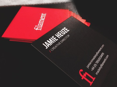 Business cards cards business filament branding logo