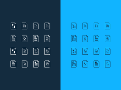 File Icons line icons files
