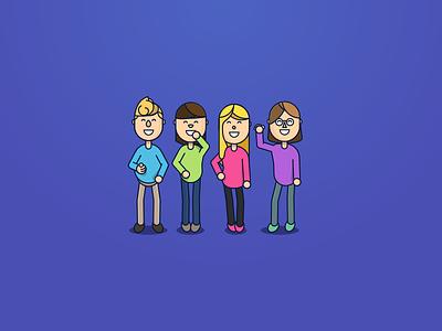 Some Avatars animation characters simple cartoon avatars