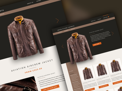 E-commerce website e-commerce. website jacket leather