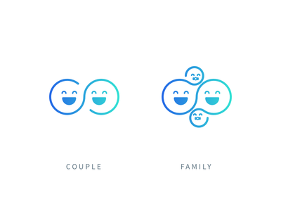 Status status couple family icons