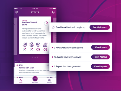 App events purple aviation ios app