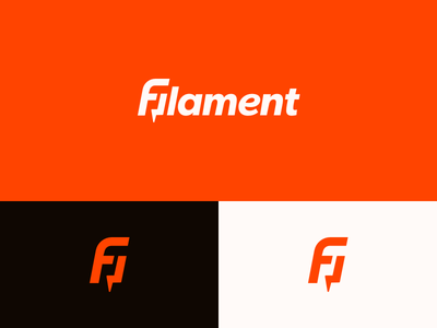 Filament Logo Alt bolt lightening ident orange brand mark filament logo
