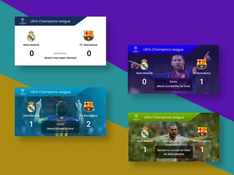 Score Card illustration design score ronaldo messi players scoreboard profile cards ui cards uiux ui soccer football scorecard dribbble best shot