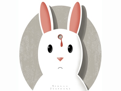 Deadrabbit rabbit dead shot character design t-shirt violence cute