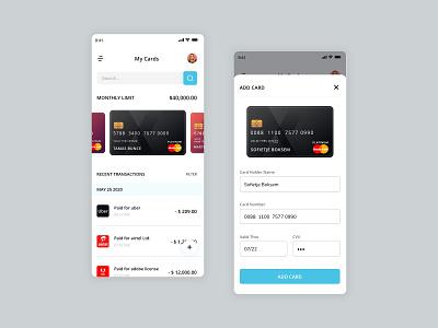 My Credit/Debit Card Listing ios app design product designs uiux design add cards cards ui flatdesign minimalist uiuxdesigner card design credit card debitcard card