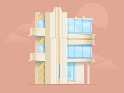 """""""The Gatsby"""" house vector figmadesign figma illustration architectural design architectural illustration house artdeco architecture"""